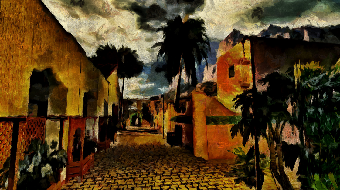 Island-Village-Evening