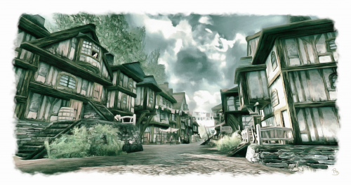 Middle-earth A View of Bree